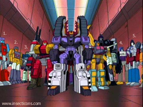Transformers (G1 us, G1 japonais et Beast Wars) vu dans le générique de Transformers Armada S-Npcs-50