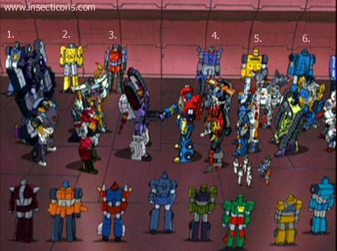 Transformers (G1 us, G1 japonais et Beast Wars) vu dans le générique de Transformers Armada S-Npcs-54