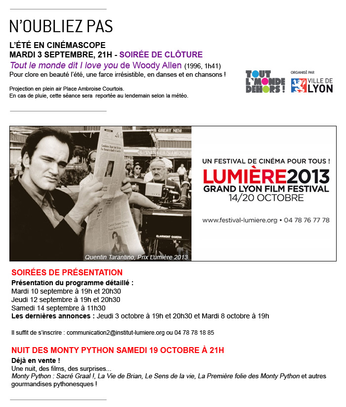 Septembre à l'Institut Lumière (Desplechin, Hitchcock, Billy Wilder... et les soirées de présentation du festival ! Contenu_07