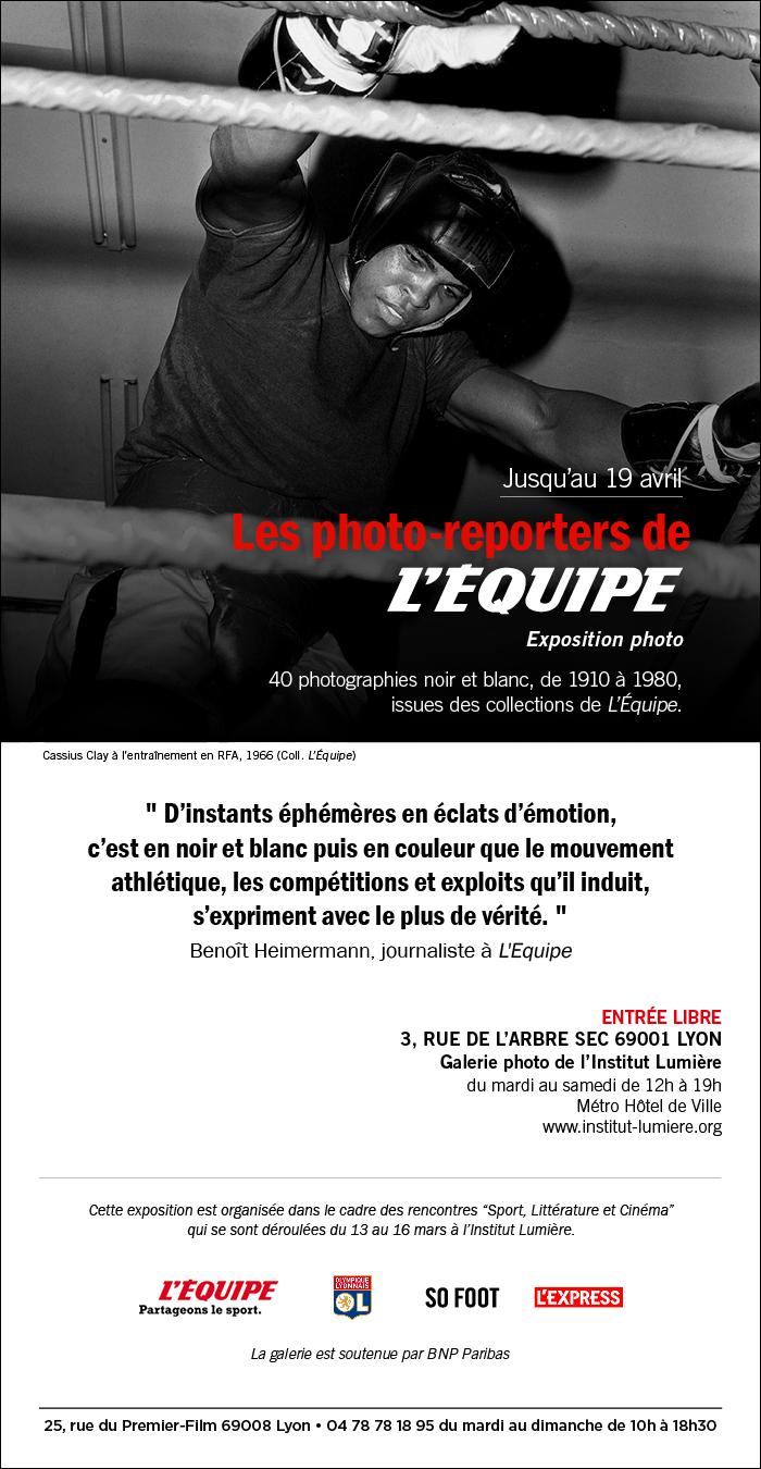 Les photo-reporters de l'Equipe exposent à l'Institut Lumière de Lyon Visuel