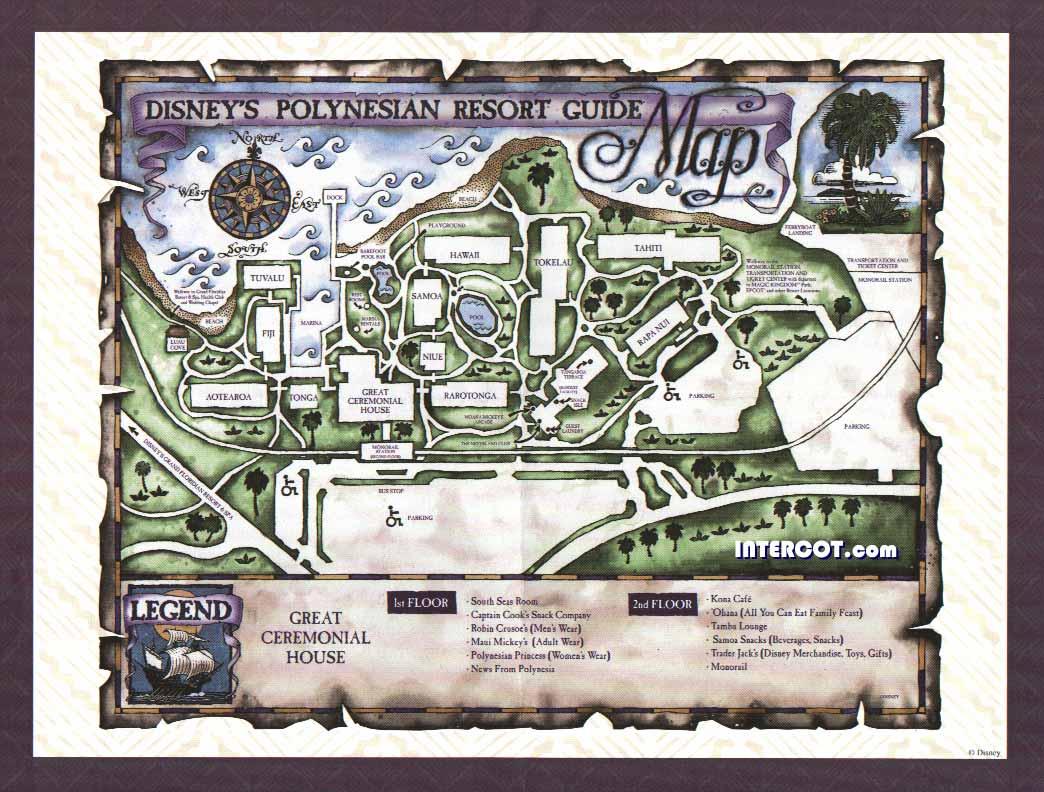 Plans (parcs+Hôtels de WDW) Polynesian