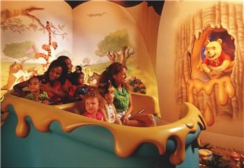 visite du Disney world magic Kingdom Poohvehicle
