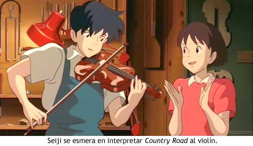 studio ghibli - [Ghibli] Si Tu Tends l'Oreille Mimi_violin
