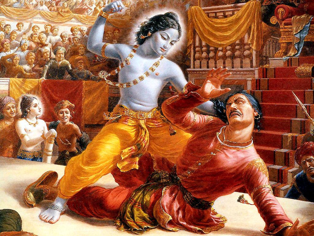Lanci, eccomi :-) Krishna-kills-Kamsa1
