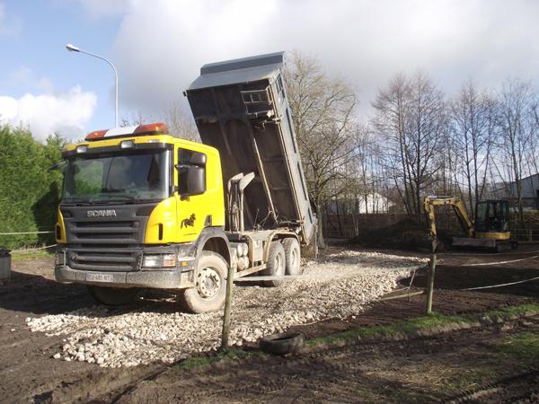 Aménagement de mon paddock hors boue. Solution trouvée pour cet hiver !! 1