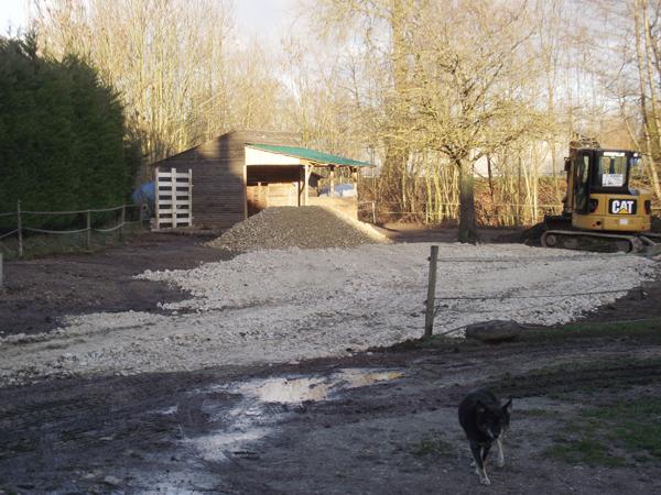 Aménagement de mon paddock hors boue. Solution trouvée pour cet hiver !! 4