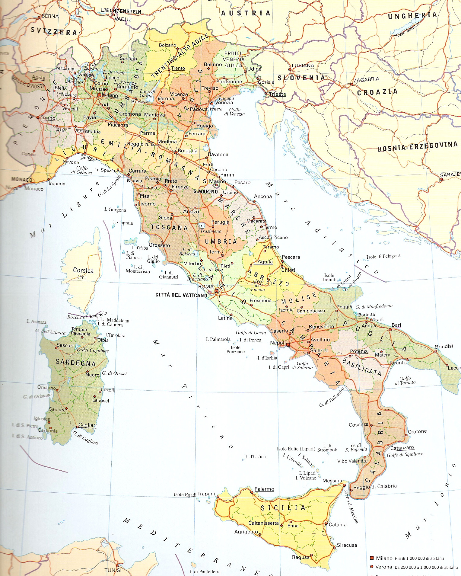 Карта Италии Karta-italia-politicheskaia-high