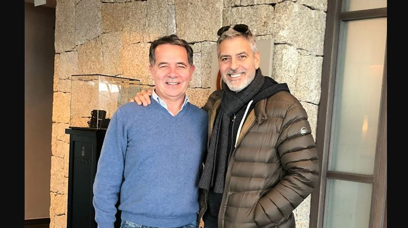 George Clooney spotted in Sardinia again - Catch 22 George-clooney