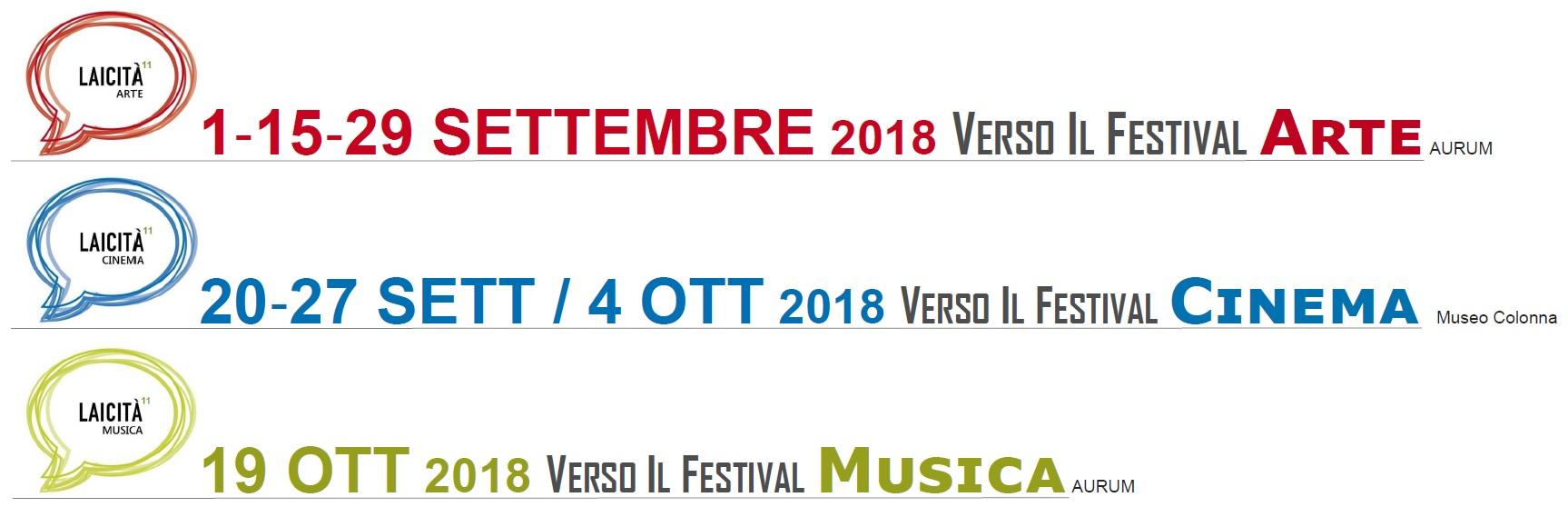 XI° FML - Festival Mediterraneo della Laicità Pescara 15 settembre - 21 ottobre  Cicli
