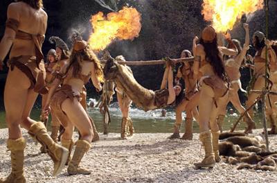 Women Wearing Revealing Warrior Outfits - Page 14 Homo-erectus-cavewomen