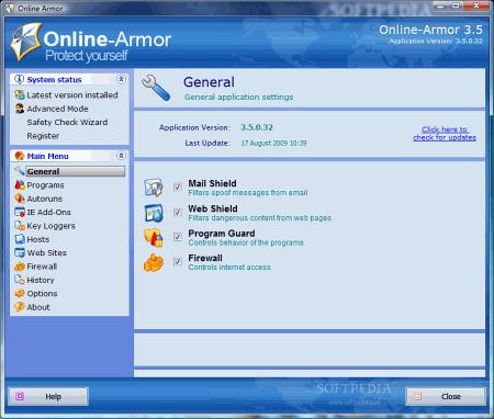 Безопасность: Online Armor Free v.4.5.1.431 Onlinearmor
