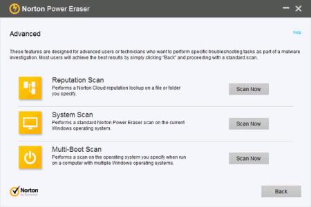 Norton Power Eraser v.4.3.0.13 - бесплатная утилита для удаления вредоносного кода с ПК Npe