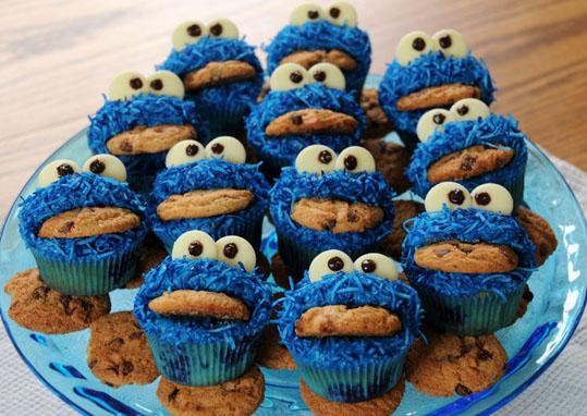 [Infographie] Une bannière devenue réalité Cookie-monster-cupcakes-2