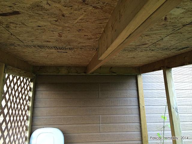 Poulailler urbain à toit incliné - Idée de construction Poulailler-structure