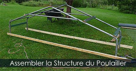 Poulailler Mobile Original - Mes étapes de construction Assembler-structure-poulailler