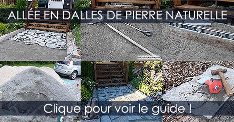 Pose de Dalles en pierres naturelle au jardin Pave-en-dalles-pierre-naturelle