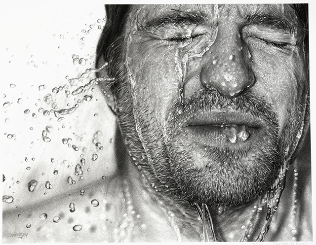 Hiperrealismo. Drawn-Face-Art-Print-Dirk-Dzimirsky