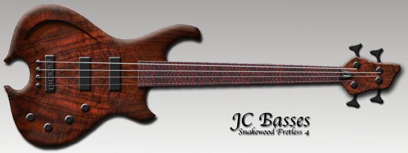 Baixos Modelo - JC Basses Snakewood1