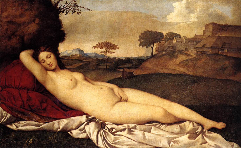 Vénus anadyomène Giorgione-venus-endormie