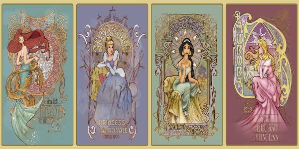 Les puzzles Disney - Page 5 C39192A-Princess-of-the-Sea-Art-Nouveau-w