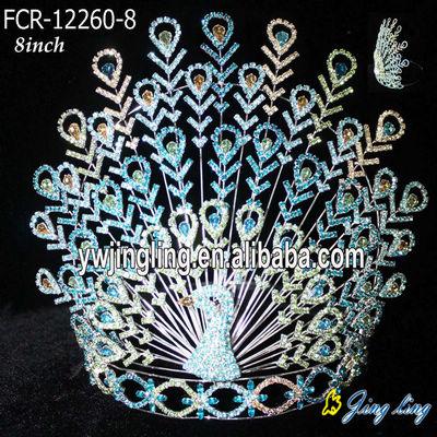 تيجان ملكية  امبراطورية فاخرة Custom-peacock-big-pageant-crown-for-sale