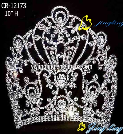 تيجان ملكية  امبراطورية فاخرة Large-hot-sale-tiara-pageant-crown