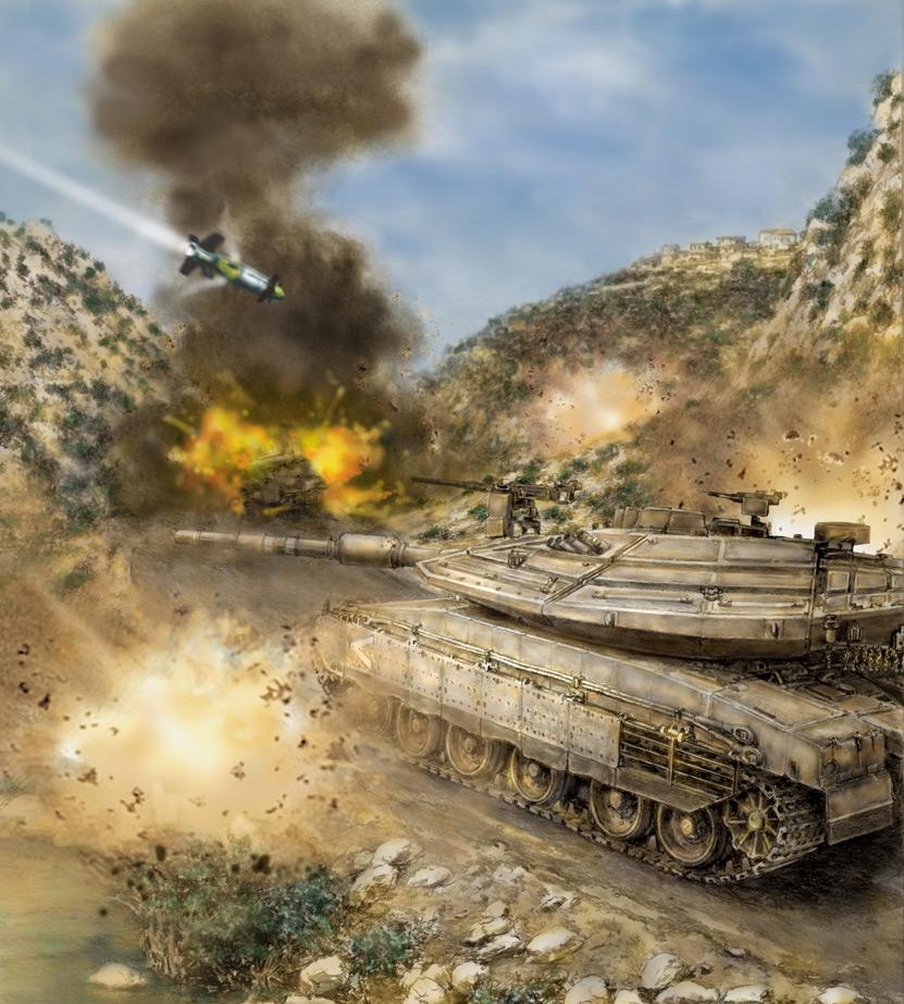 معركة وادي الحجير : مجزرة دبابات الميركافا Battle-of-wadi-saluki