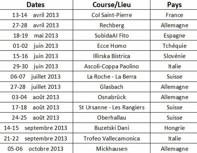 Hill Climb European Championship 2013 + Nacionales de Montaña Europeos - Página 4 Calendrier-20132