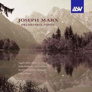 Joseph MARX (1882-1964)  Asvdca1164_cover