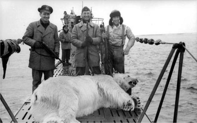 II Guerra Mundial. Capitalismo en acción, ejemplos.  [Historia Contemporánea]  - Página 2 No-todo-era-lanzar-torpedos-y-huir-de-las-cargas-de-profundidad-a-veces-tambi%C3%A9n-cazaban-osos-polares