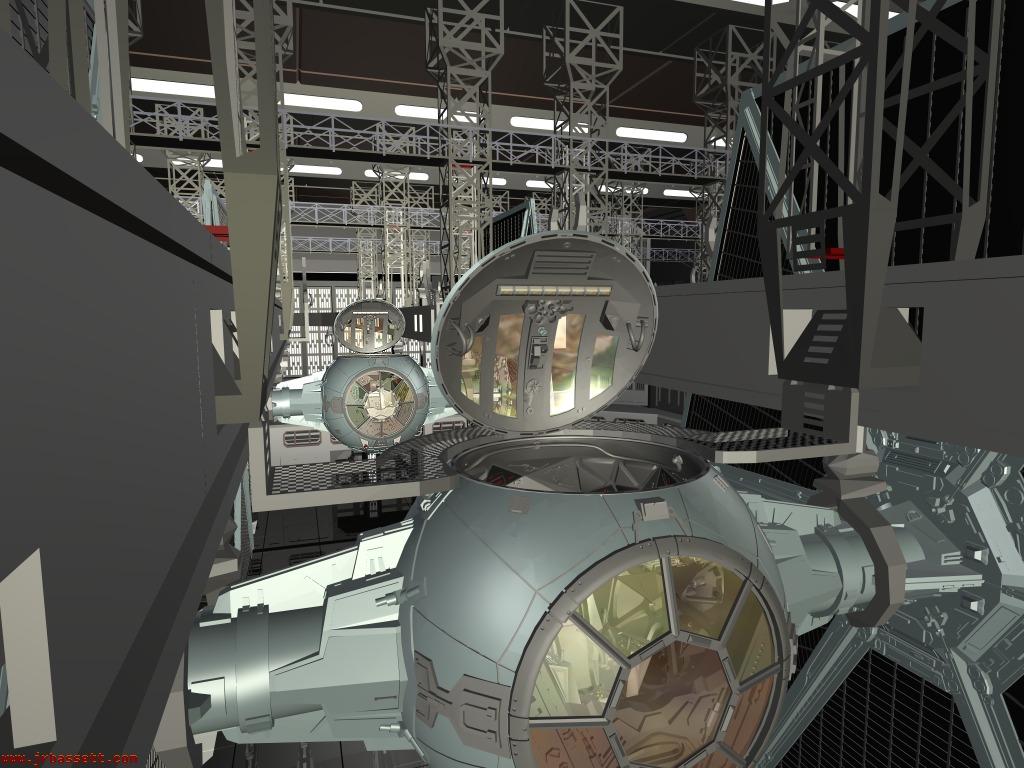 accés au cockpit du TIE TFbHN2
