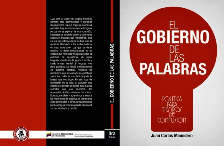 """""""El gobierno de las palabras. Política para tiempos de confusión"""" - libro de Juan Carlos Monedero - año 2011- publicado en Venezuela Portada-El-gobierno-de-las-palabras-CIM"""