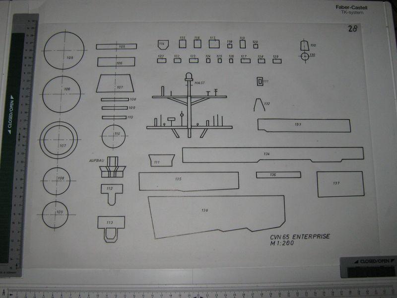 Planung des Flugzeugträgers CVN 65 Enterprise 1/200. Enterprise%20028
