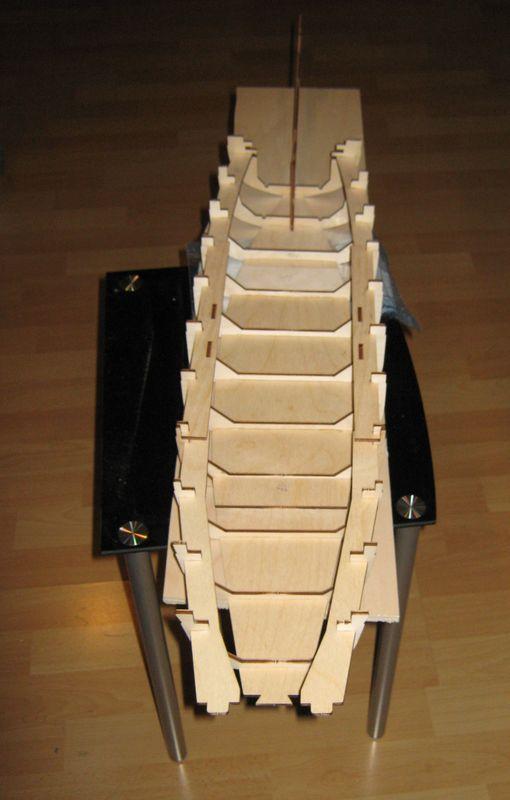 Bau der Tirpitz aus der Hachette Bismarck Heftserie 1/200 Tirpitz%20016