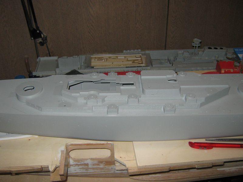 Bau der Missouri von Trumpeter in 1/200 Missouri%20051