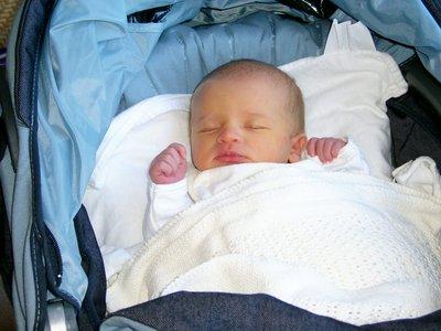 عالج نفسك بالتمر Newborn-baby-girl-three-3-days-old-first-time-in-pram-1-PAR