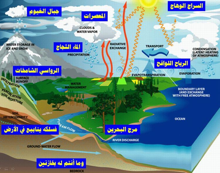 دورة الماء: حقائق وإعجاز Water-flow-cycle