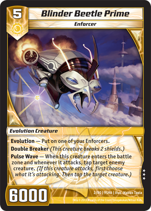 Kaijudo Card Game Blinder_Beetle_Prime