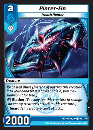 Kaijudo Card Game Pincer-Fin