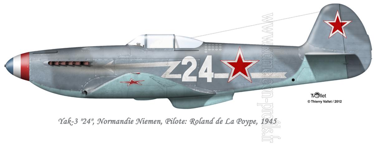 Yak-3 Roland de la Poype: Normandie Niemen Yak%203%20La%20Poype%20V6-s