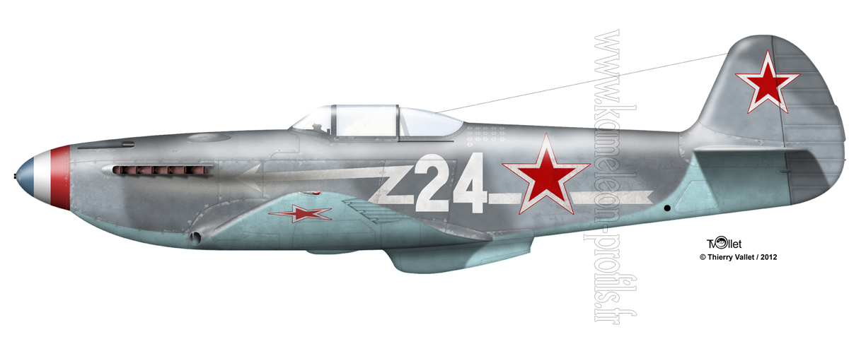 Yak-3 Roland de la Poype: Normandie Niemen Yak%203%20La%20Poype%20clair