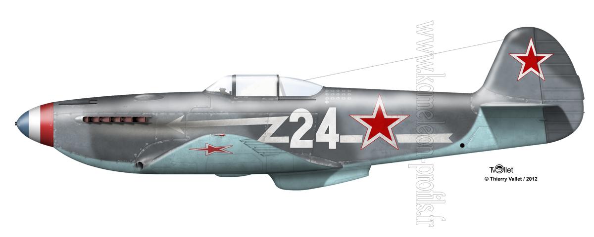 Yak-3 Roland de la Poype: Normandie Niemen Yak%203%20La%20Poype%20copie