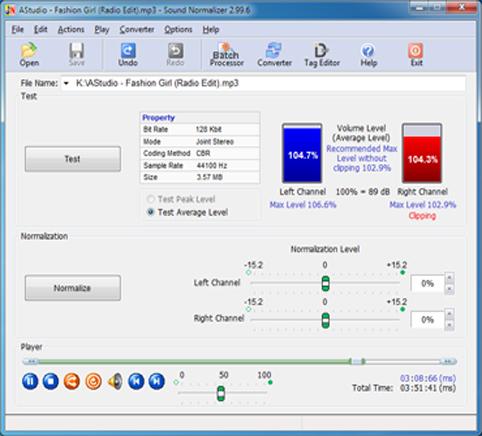 برنامج تحسين ورفع جوده الاغاني واعلى الصوت SoundNormalizer3F
