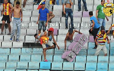 Violence au Stade de Radès : Les casseurs seront poursuivis en justice  Supporters-casseurs