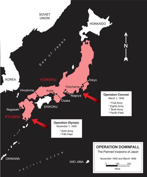Acontecimentos na Peterandia - Página 4 USMC_Museum_Map_WWII_Operation_Downfall
