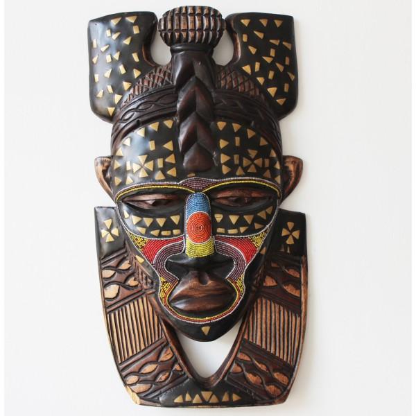 Afričke maske - Page 4 Hand-carved-beaded-african-face-mask