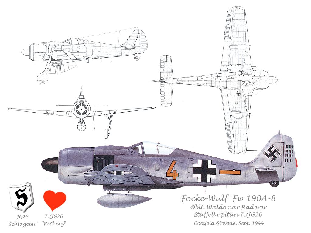 Cazas y ases de la segunda guerra mundial . 03_wallpaper_Fw190A8_7-26