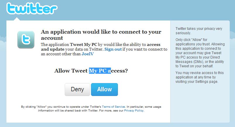 Controle o seu PC remotamente pelo Twitter Permitir-tweet-My-PC
