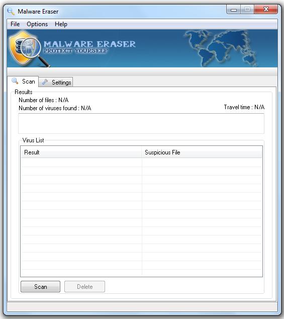 Malware Eraser 1.2 Build 0.114 42596