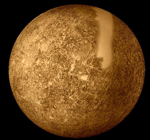 صور عن كواكب المجموعة الشمسية Mercury_mariner10